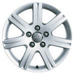 Cast aluminium winter wheel in 7-arm abitos design, brilliant silver, 7.5 J x 18