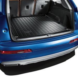 Luggage compartment shell, for 5-seater and 7-seater vehicles when the third row of seats is lowered, shortened
