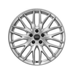 Cast aluminium winter wheel in 10-Y-spoke design, brilliant silver, 9 J x 20