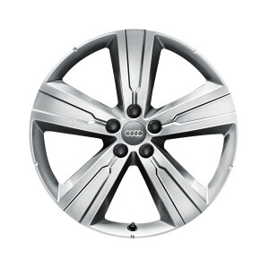 Cast aluminium winter wheel in 5-arm crena design, brilliant silver, 8 J x 20