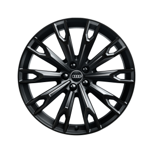 Cast aluminium wheel in 10-arm talea design, black-gloss finish, 9.5 J x 21