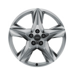 Cast aluminium wheel in 5-spoke star design, brilliant silver, 8 J x 19
