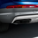 Sport tailpipe trim, for vehicles with 3.0 TDI engine and single tailpipe on the left and right, chrome-finished, black