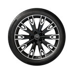 Complete summer wheel in 10-arm talea design, matt black, high-gloss turned finish, 9.5 J x 21, 285/40 R 21 109Y XL