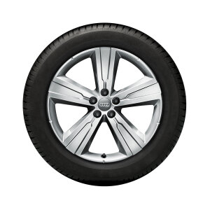 Wheel, 5-arm crena, brilliant silver, 8.0Jx20, winter tyre 255/50 R20 109H XL