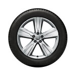 Complete winter wheel in 5-arm crena design, brilliant silver, 8 J x 20, 255/50 R20 109H XL