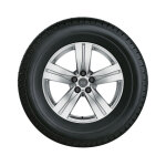 Complete winter wheel in 5-spoke design, brilliant silver, 8 J x 18, 255/60 R18 108H, left