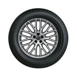 Complete winter wheel in 10-Y-spoke design, galvanic silver, metallic, 9 J x 20, 285/45 R20 112V XL, left