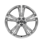 Cast aluminium winter wheel in 5-segment-spoke design, galvanic silver, metallic, 10 J x 21