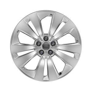 Cast aluminium winter wheel in 5-arm aero design, brilliant silver, 8.5 J x 19