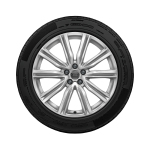 Complete winter wheel in 5-V-spoke design, brilliant silver, 8.5 J x 20, 265/50 R 20 111H XL