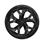 Complete winter wheel in 5-Y-spoke rotor design, black-gloss finish, 10.5 J x 23, 295/35 R 23 108W XL