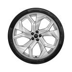 Complete winter wheel in 5-Y-spoke rotor design, galvanic silver, metallic, 10.5 J x 23, 295/35 R 23 108W XL