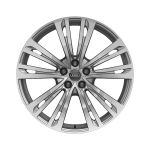 Cast aluminium winter wheel in 10-parallel-spoke design, brilliant silver, 9 J x 20