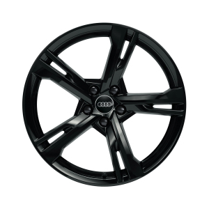 Cast aluminium winter wheel in 5-arm ramus design, black-gloss finish, 9 J x 20