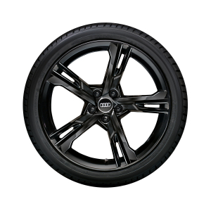 Complete winter wheel in 5-arm ramus design, black-gloss finish, 9 J x 20, 265/40 R20 104V XL, left