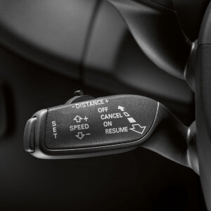 Retrofit solution for the cruise control system, for vehicles without a heated steering wheel