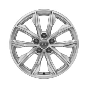 Cast aluminium winter wheel in 10-spoke design, brilliant silver, 7 J x 17