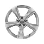 Cast aluminium winter wheel in 5-spoke dynamic design, brilliant silver, 7 J x 19