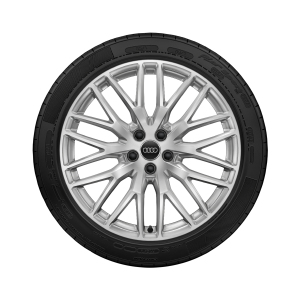 Complete summer wheel in 10-Y-spoke design, galvanic silver, metallic, 8 J x 20, 255/45 R 20 101W