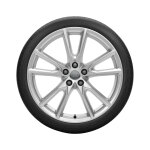 Complete winter wheel in 10-spoke vox design, brilliant silver, 8 J x 20, 255/45 R20 101V