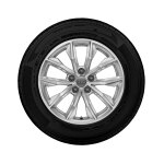 Complete winter wheel in 10-spoke design, brilliant silver, 7 J x 17, 235/65 R17 104H