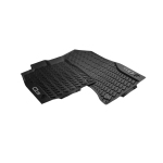 All-weather floor mats, for the front, black