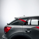 Decorative films with side panel design, misano red/daytona grey