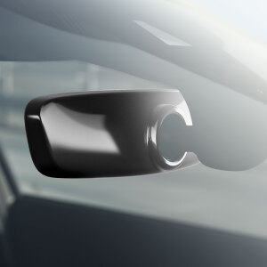 Decorative trim for the interior mirror, automatic anti-dazzle, brilliant black