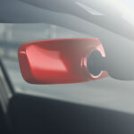 Decorative trim for the interior mirror, automatic anti-dazzle, misano red, pearl effect