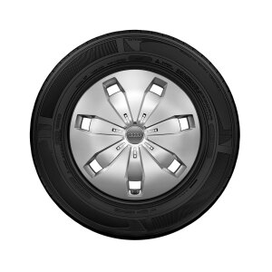 Complete steel winter wheel with full wheel cover, brilliant silver, 6 J x 16, 205/60 R 16 92H, left