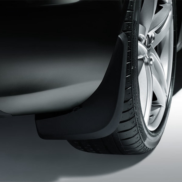 Mud flaps, for the rear, for vehicles with equipment line design or sport