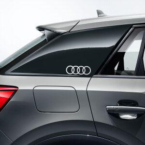 Audi rings decals, floret silver