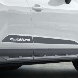 Decal set for the side sills, quattro , platinum grey, matt