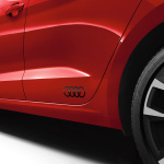 Audi rings decals, brilliant black, gloss finish