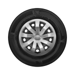 Steel winter wheel with full wheel cover, brilliant silver, 5.5 J x 15