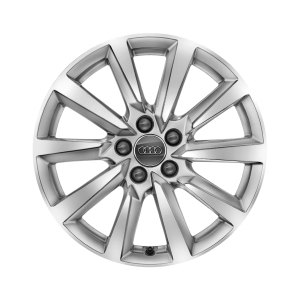 Cast aluminium winter wheel in 10-spoke design, brilliant silver, 6.5 J x 16