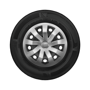 Complete steel winter wheel with full wheel cover, brilliant silver,  5.5 J x 15, 185/65 R 15 92H XL
