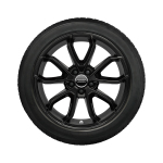 Complete winter wheel in 5-arm carabus design, reverse, black-gloss finish, 7.5 J x 17, 215/45 R 17 91W XL