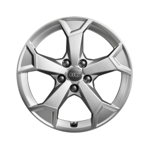 Cast aluminium winter wheel in 5-arm secare design, brilliant silver, 6.5 J x 17
