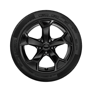 Complete winter wheel in 5-arm secare design, black-gloss finish, 6.5 J x 17, 215/65 R 17 99H