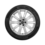 Complete winter wheel in 10-spoke star design, galvanic silver, metallic, 7.5 J x 19, 225/50 R 19 100V XL