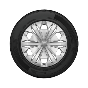 Complete steel winter wheel with full wheel cover, brilliant silver, 6.5 J x 17, 215/65 R 17 99H, left