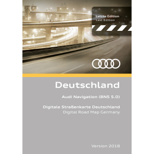 Navigationsupdate, Deutschland Version 2018 (BNS 5.0)