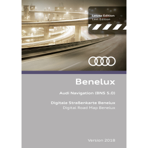 Navigation update, version 2018 for Belgium, the Netherlands and Luxembourg (BNS 5.0)