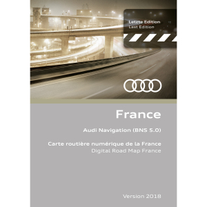 Navigation update, version 2018 for France (BNS 5.0)