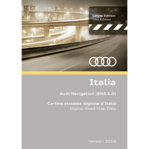 Navigation update, version 2018 for Italy (BNS 5.0)