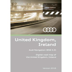 Navigation update, version 2018 for the UK and Ireland (BNS 5.0)