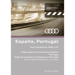 Navigationsupdate, Spanien und Portugal Version 2018 (BNS 5.0)