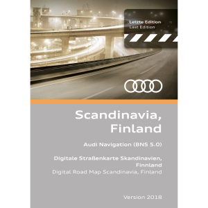 Navigation update, version 2018 for Scandinavia and Finland (BNS 5.0)